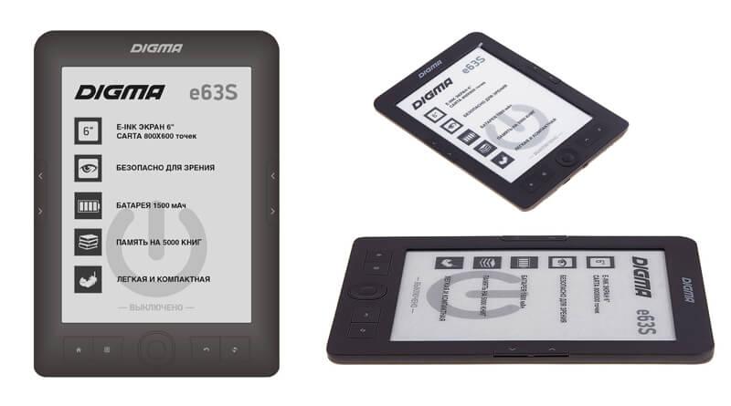 Электронная книга Digma E63S обзор